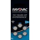 RAYOVAC Hearing Aid Battery 6 pieces Blister HA675