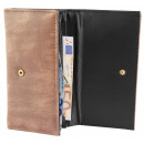 Großhandel Taschen & Reiseartikel: Damen Geldbörse aus Lederimitat. Format 19 x 10 cm