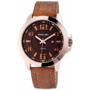 Excellanc men's watch with leather imitation b