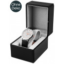 wholesale Jewelry & Watches: Watch box, black, plastic with imitation leather,