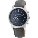 Excellanc men's watch with imitation leather s