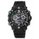 Q&Q digital men's watch with silicone stra