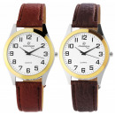 Classique men's watch with XXL imitation leath