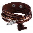 wholesale Artificial Flowers: Wrap bracelet made of textile, color: 5