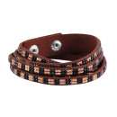 wholesale Jewelry & Watches: Wrap bracelet made of textile and metal