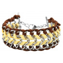 wholesale Jewelry & Watches: Accent chain bracelet made of stainless steel and