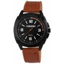 Aerostar watch with imitation leather bracelet