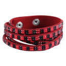 wholesale Artificial Flowers: Wrap bracelet made of textile and metal, - Mataria