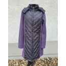 Ladies quilted coat with knitted fleece