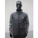 Men's quilted jacket with knitted fleece
