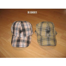 Men's checked cap