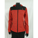 Ladies quilted jacket with knitted fleece