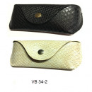 Sunglasses case snake black / beige VP34