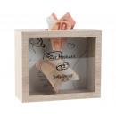 groothandel Woondecoratie: Houten kist als trouwdoos 18x15cm