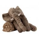 Großhandel Home & Living: Elefant grau b=45cm h=40cm mit Decke 80x100cm