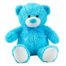 wholesale Dolls &Plush: Bear blue sitting with bow h = 50cm (sitting h = 3