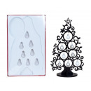 Christmas tree made of wood h = 30.5cm, black with