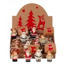 nagyker Ajándékok és papíráruk: Karácsonyi figurák táskában és Display h = 6,5cm,