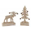 groothandel Lichtketting: Amerikaanse eland en dennen met LED-ketting + bel