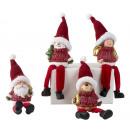 Figures de Noël avec les jambes pendantes h = 21cm