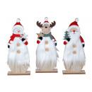 Weihnachtsholzdeko mit Nikolaus, Schneemann & Elch