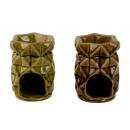 grossiste Parfums d'ambiance et huiles parfumees: Évaporateur 2x gris: 1x vert h = 11 cm d = 8,5 cm,