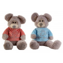 Großhandel Spielwaren: Plüsch Maus sitzend mit Pullover h=100cm, ...
