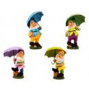 Enano de pie con paraguas h = 38,5cm, 4- veces sur