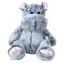 ingrosso Bambole e peluche: Ippopotamo grigio seduto h = 40cm