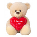 wholesale Dolls &Plush: Sitting bear with heart I love you h = 30cm