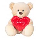 hurtownia Zabawki pluszowe & lalki: Miś siedzący z sercem Przepraszam h = ...