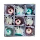 Großhandel Home & Living: Baumschmuck Glas Eisbären zum Hängen d=2,5-4cm 9