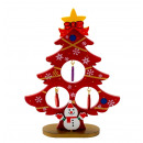 Christmas tree red made of wood h = 14.5cm