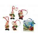 Figurines de Noël à accrocher h = 5cm dans des sac