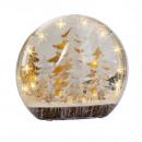 Weihnachts-LED-Acryl-Deko zum Stellen 40x12x36cm