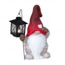 Sleepyhead Nicholas with lantern in hand h = 26cm