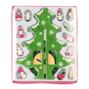 wholesale Decoration: Christmas tree made of wood green-glittering h ...