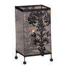 groothandel Lampen: Lamp h = 26cm, 13x13cm met stof, elektrisch