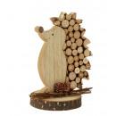 nagyker Dekoráció: Fából készült sündisznó h = 14cm