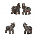 Elephant with rhinestones h = 6,5-7cm, 4 times sor
