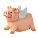 Cerdo con alas blancas como caja de dinero h = 25c
