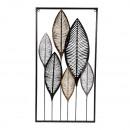 Moderne metalen wanddecoratie bladeren om op te