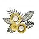 Moderne metalen wanddecoratie Flowers & Leave