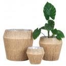 Set van 3 bloempotten -Prijs met natuurlijke jutes