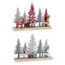 Großhandel Home & Living:-Holz Winterlandschaft mit Rehen h=13,5cm ...