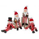 Bonhomme de neige + Père Noël aux jambes pendantes