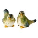 mayorista Muñecas y peluches: Pájaros verdes sentados h = 16 + 17cm, 2- veces su