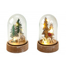 Christmas decoration in glass with LED h = 13cm, 2
