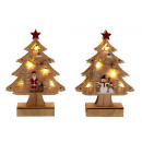 Christmas tree made of wood with LED h = 23cm w =