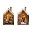 Großhandel Sonstige: Haus mit Weihnachtsdeko mit LED h=23cm ...